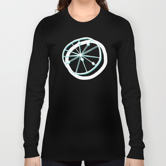 Atomic Lemonade_Cerulean and White Long Sleeve T-shirt