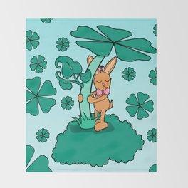 Lucky Bunny Throw Blanket