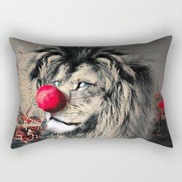Circus Lion Clown Rectangular Pillow