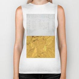 Gold Foil and Concrete Biker Tank