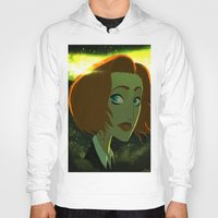 dana scully Hoodies featuring Scully  by Annalisa Leoni