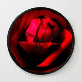 Dramatic Red Rose Flower Floral Decor Modern Art A589 Wall Clock