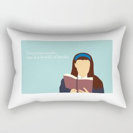 Rory Reads Rectangular Pillow