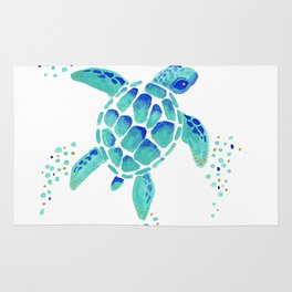 Neptune's Turtle Rug