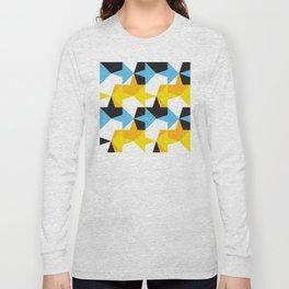 Geometric Pattern #95 (blue yellow orange yellow) Long Sleeve T-shirt