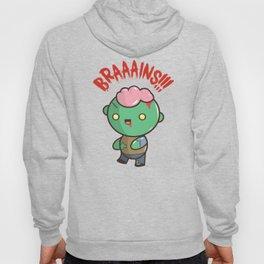 Zombie Kawaii | BRAAAINS!!!! BRAINS!! Halloween Hoody