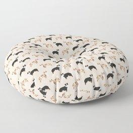 Australian Shepherd - red merle, tri colored dog Floor Pillow