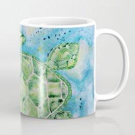 Sea Turtle's Moonlight Swim-Barbara Chichester Coffee Mug