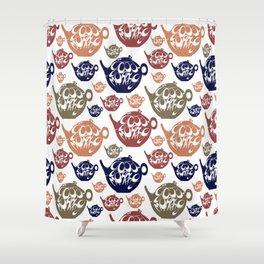 Good morning! Wake up pattern. Shower Curtain