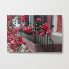 RED CHROME PETALS Metal Print