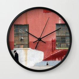 Brooklyn wall art 2 Wall Clock