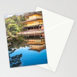 Wonderful Japanese Zen gardens at Golden Pavilion, Kyoto, Japan. Stationery Cards