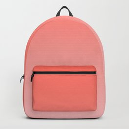Living Coral Pink Ombre Gradient Pattern Backpack
