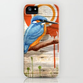 Kingfisher 1 iPhone Case