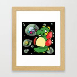 "Bubble Bobble ""Bub"" ! Framed Art Print"