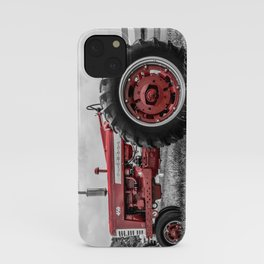 Vintage IH Farmall 450 Side View Selective Red Tractor iPhone Case