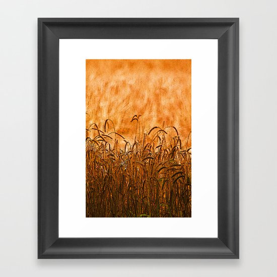 Golden Brown (Texture Like Sun) Framed Art Print