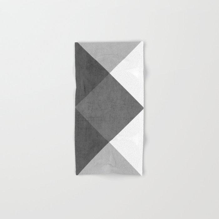 black and white triangles Hand & Bath Towel