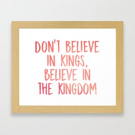 Believe in the Kingdom - Chance the Rapper Framed Art Print