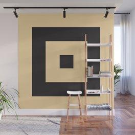 beige et noir Wall Mural