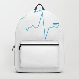 Heartbeat Hockey for Hockey Players & Fans Backpack