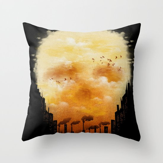 Polluted Promises Throw Pillow