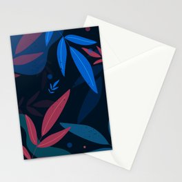 Abstract Autumn Leaves Orange Stationery Cards