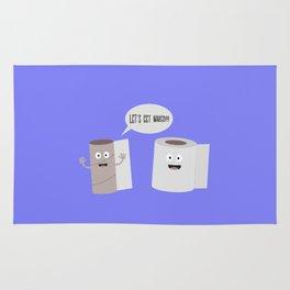 Toilet roll tissue cartoon Rug