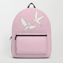 Two Swallows Line Art Backpack