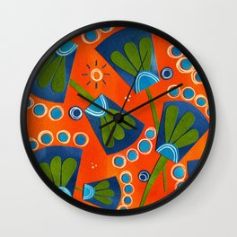 Floral Three Wall Clock