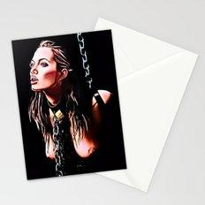 Lara Croft bondage fantasy NSFW Stationery Cards