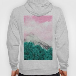 The limit is the sky | Pink turquoise clouds mountains sky photography Hoody