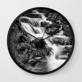 Winter Rapids Wall Clock