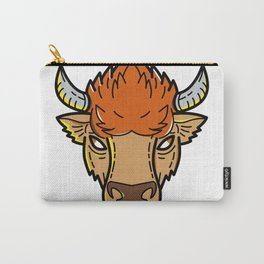 European Bison Mono Line Art Carry-All Pouch