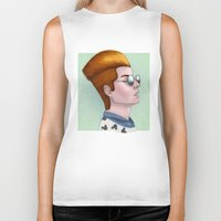 tim shumate Biker Tanks featuring TIM ACID by Greenteaelf