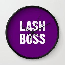 Lash Boss - Hot Pink Wall Clock