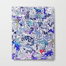 Kamasutra LOVE - Ultraviolet Purple Blue Metal Print