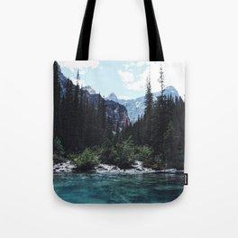 Glacier Creek, Moraine lake Banff Tote Bag