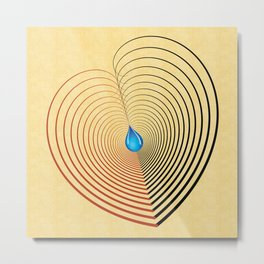 Out of the Blue -- an unbalanced heart Metal Print