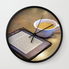 My Coffee and My Kindle Wall Clock