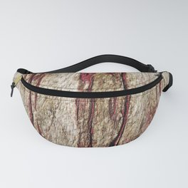 Old wood with red paint Fanny Pack