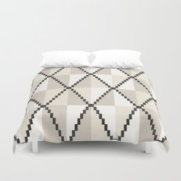 Cane in Cream Duvet Cover