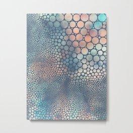 Dream Circles Charcoal Metal Print