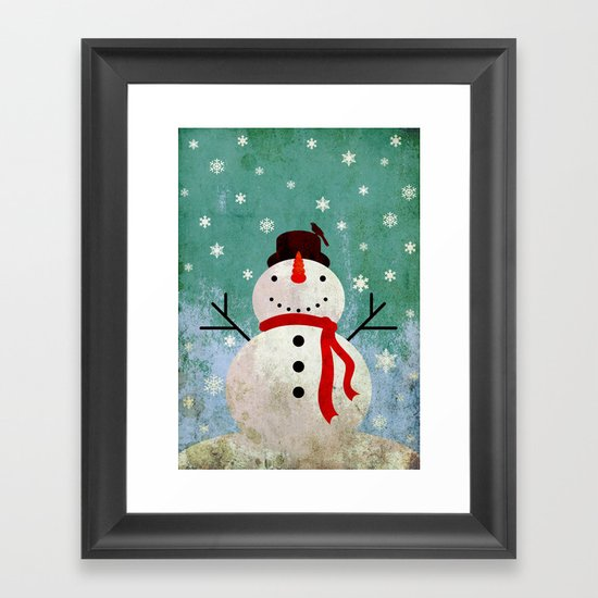 snowpy christmas Framed Art Print
