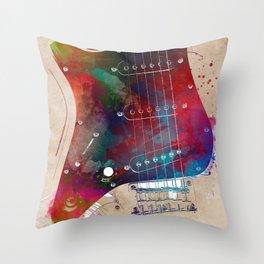 Guitar art 20 #guitar #music Throw Pillow