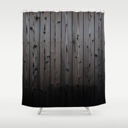 Silvered Slats Shower Curtain