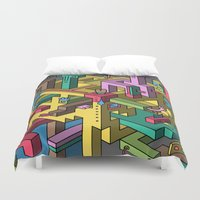 bmo Duvet Covers featuring Shilton's Fleas by Mister Phil