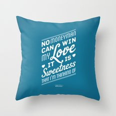 One Hit Wonder- Buffalo Stance, Blue Throw Pillow