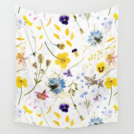 Dried And Pressed Wildflowers Midsummer Meadow I Wall Tapestry