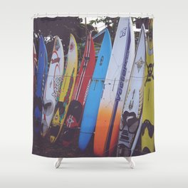 Surf-board-s up Shower Curtain